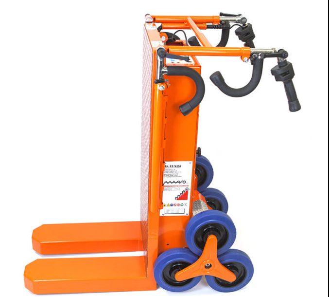 Carrello a tre ruote per scale elettrico